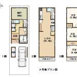 A号地建築プラン図(間取)