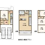 建築プラン例。建物価格 2,500万円。(間取)