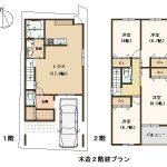 建築プラン例。建物価格 1,500万円。(間取)